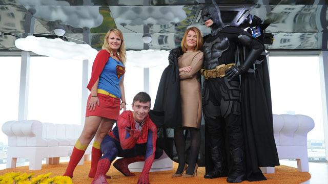 Anna Maruszeczko, Tomasz Gierwiatowski  - Spiderman, Aleksandra Rydzewska  - Supergirl, Piotr Kowalczyk – Batman